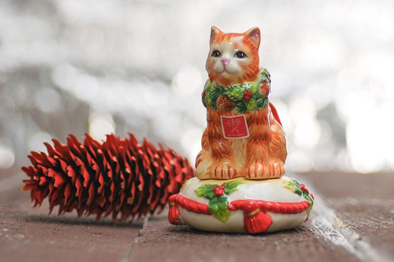 """Набор для соли и перца """"Нарядный котенок""""  - фото"""