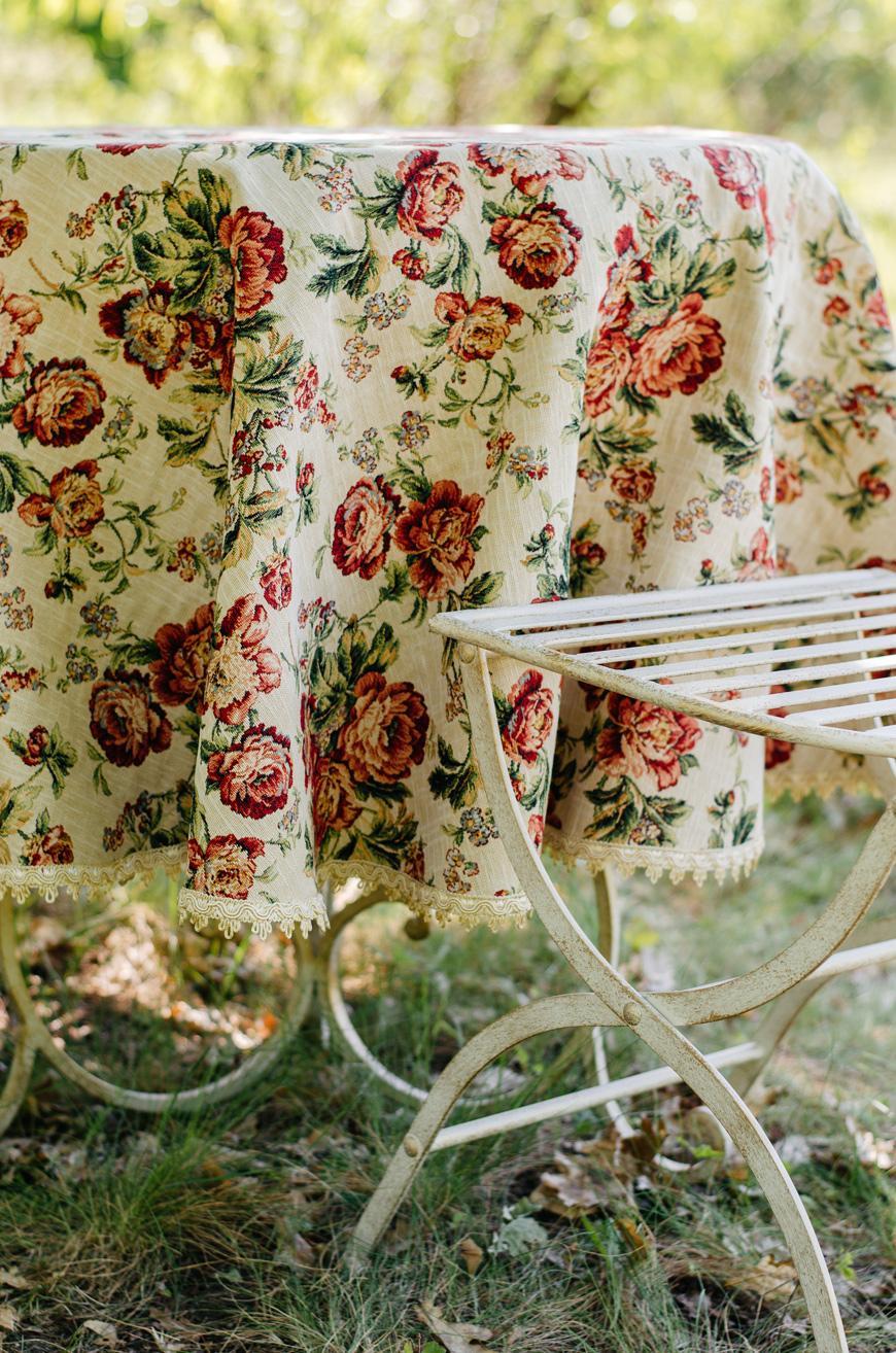 """Гобеленовый текстиль для кухни с цветами """"Розарий""""  - фото"""