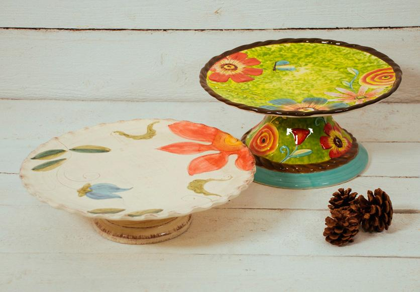 Тортовница с цветочным рисунком Spring  - фото
