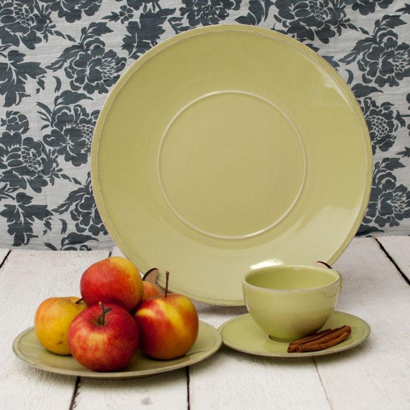 Тарелка мелкая зеленая Friso  - фото