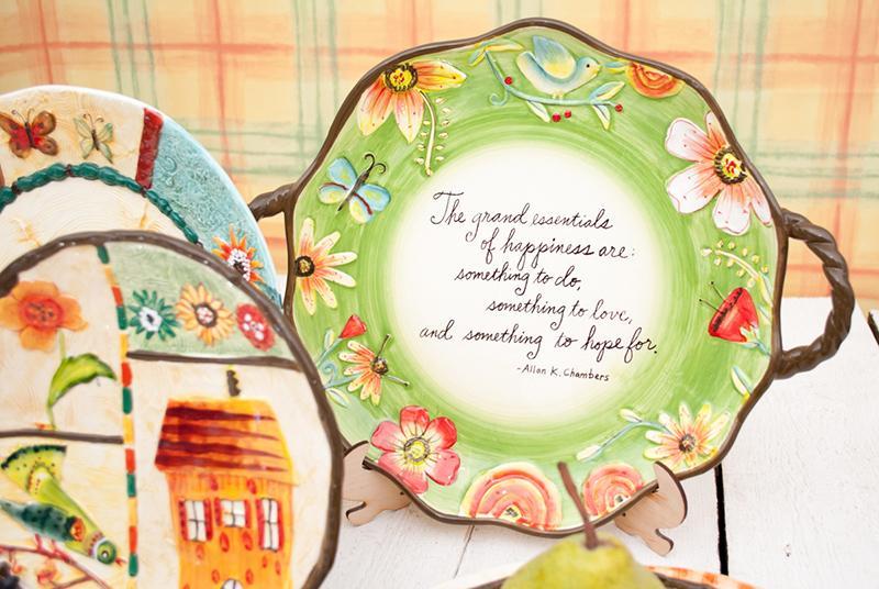 Красивая посуда ручной росписи Spring  - фото