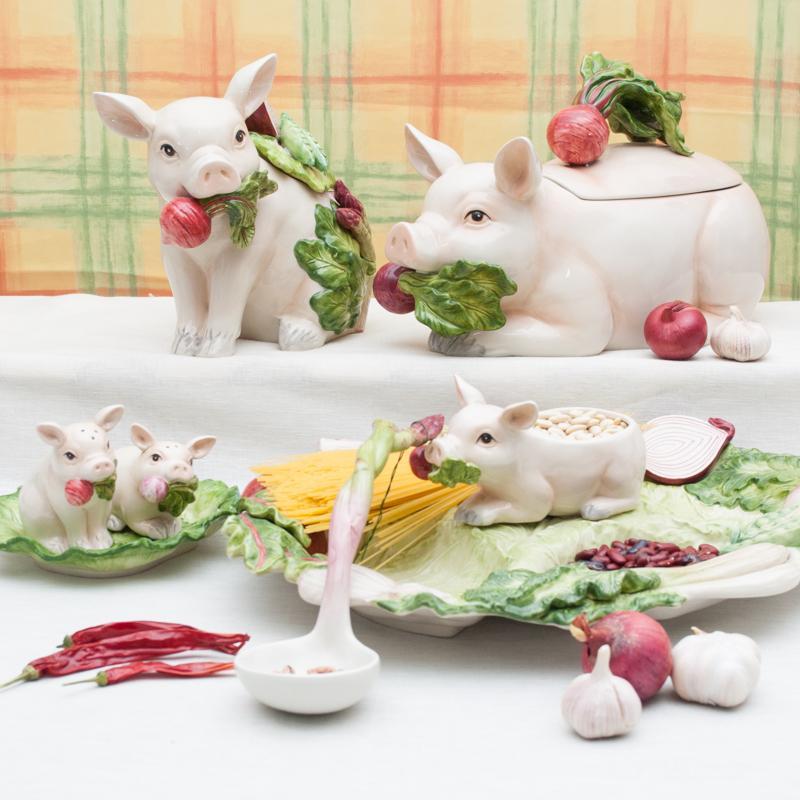 Супница-свинка  - фото