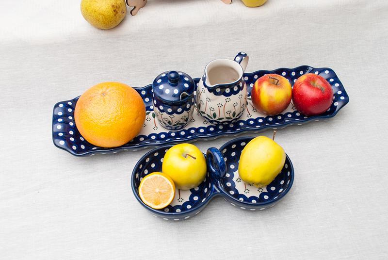 """Темно-синяя посуда коллекции """"Весенний сад""""  - фото"""