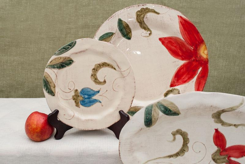 Тарелка десертная с ручной росписью Portofino  - фото