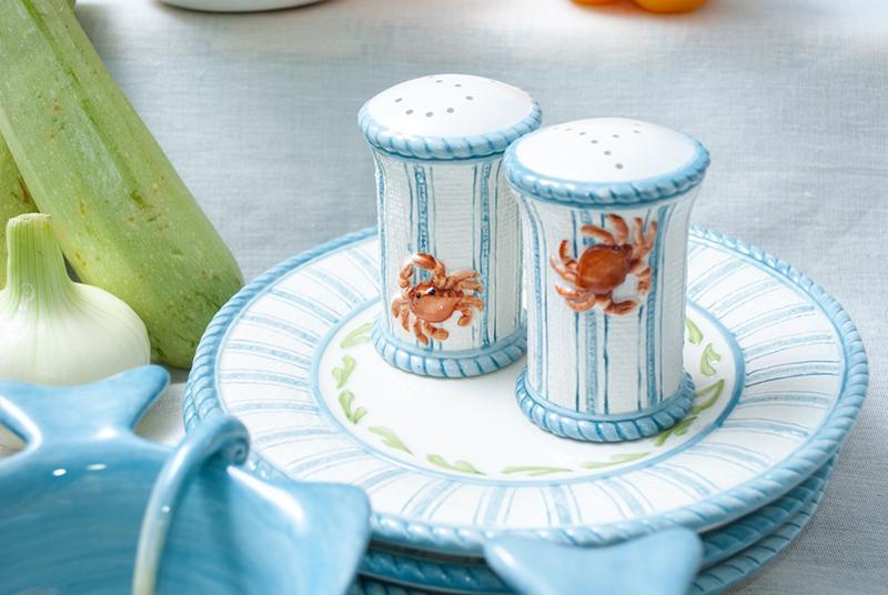 Тарелка десертная Fitz and Floyd Морская 22 см  - фото