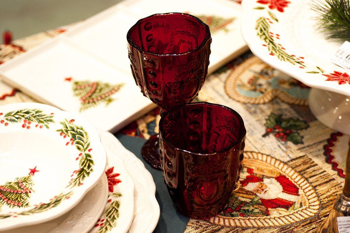 Набор из 6-ти стаканов с узором Rococo  - фото