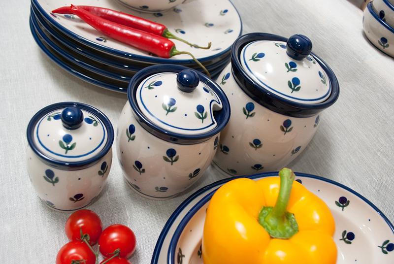 """Ёмкость для меда с узором из темно-синих ягод """"Голубика""""  - фото"""