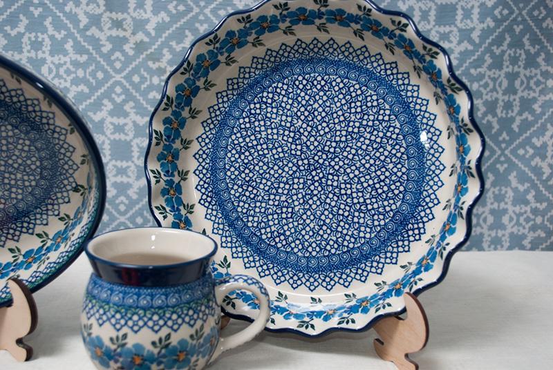 """Бело-синяя посуда """"Анютины глазки""""  - фото"""