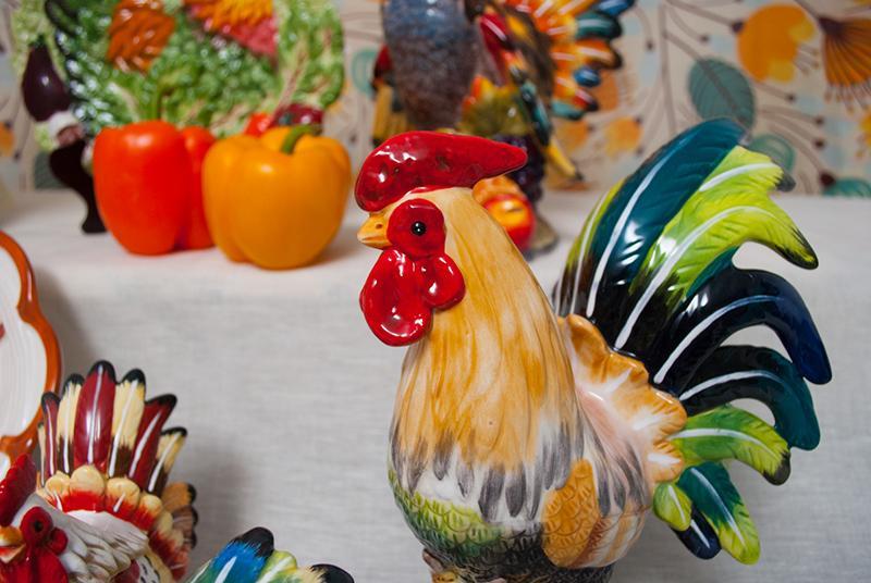 Керамические петухи ручной росписи  - фото