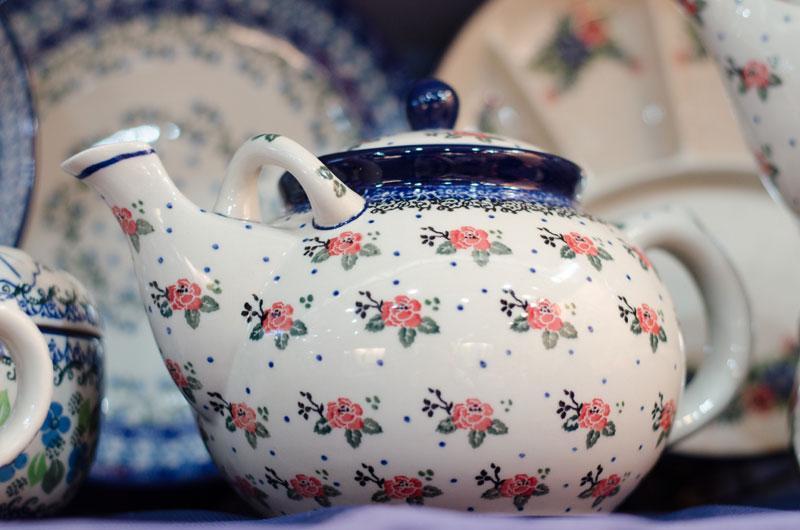 """Чайничек с рисунком из цветов """"Чайная роза""""  - фото"""