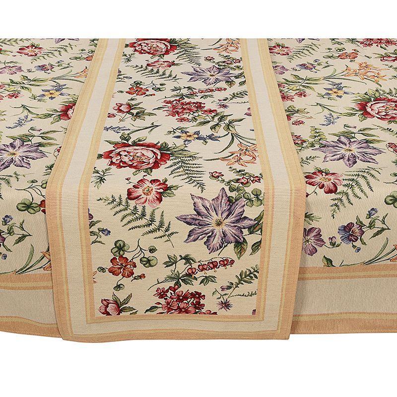 Гобеленовая скатерть с пышным цветочным орнаментом Amara  - фото