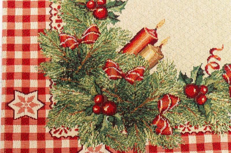"""Праздничная гобеленовая салфетка с люрексом """"Рождественские свечи"""" Villa Grazia Premium  - фото"""