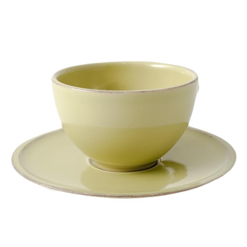 Чашка зеленая с блюдцем Friso  - фото