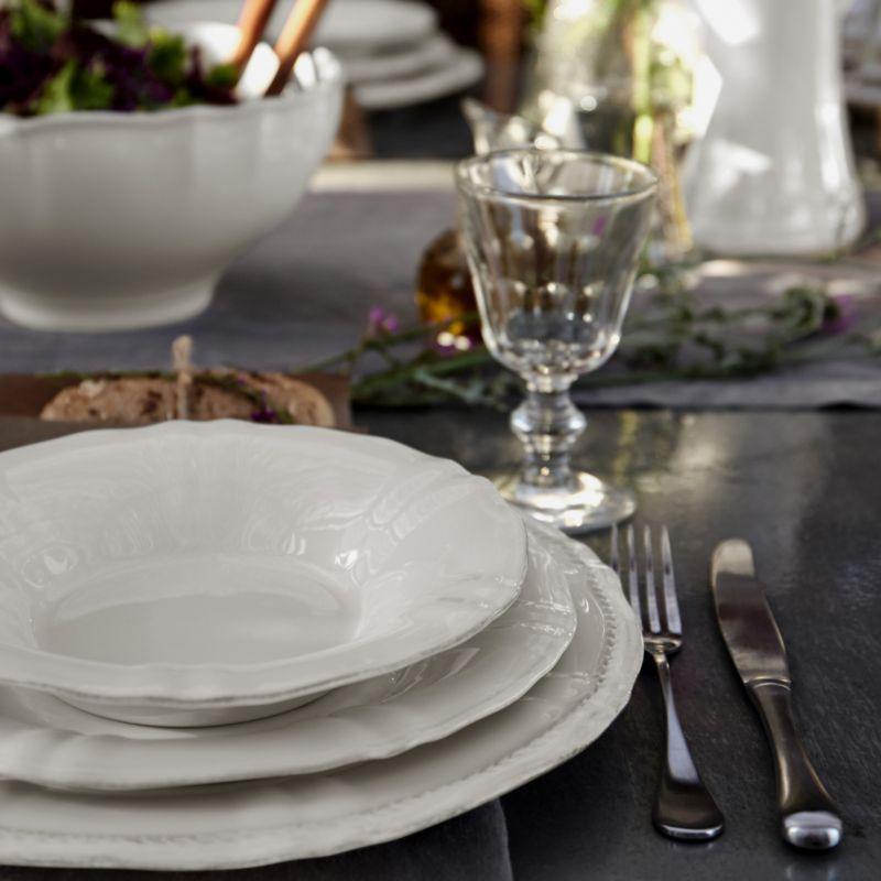 Тарелка для супа белая Village  - фото