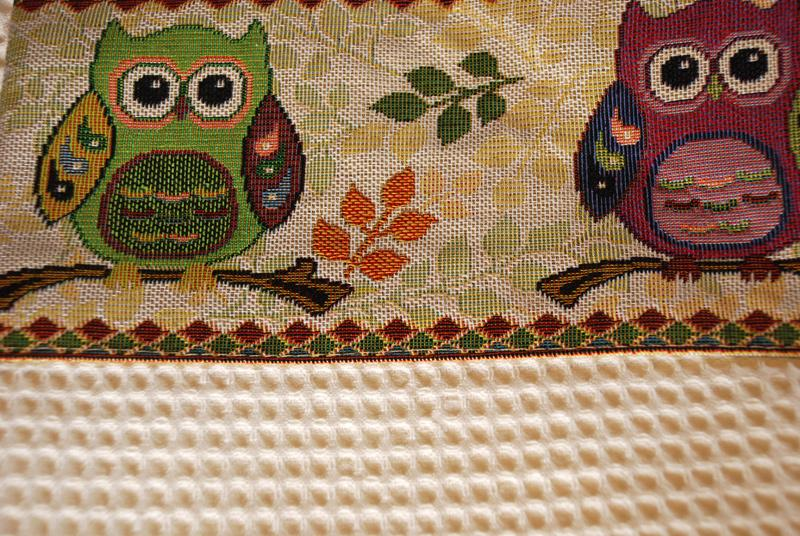 "Круглое полотенце ""Мудрая сова""  - фото"