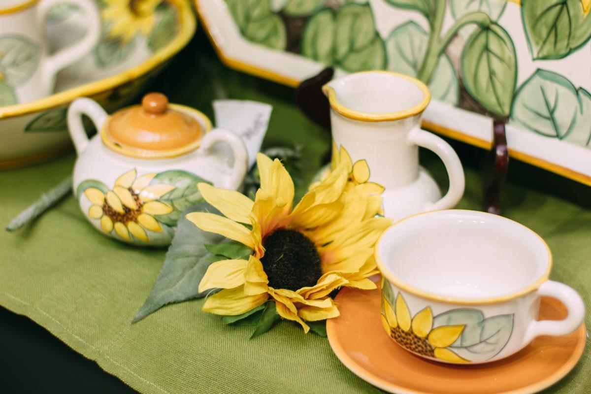 """Чашка для чая с блюдцем """"Подсолнух""""  - фото"""