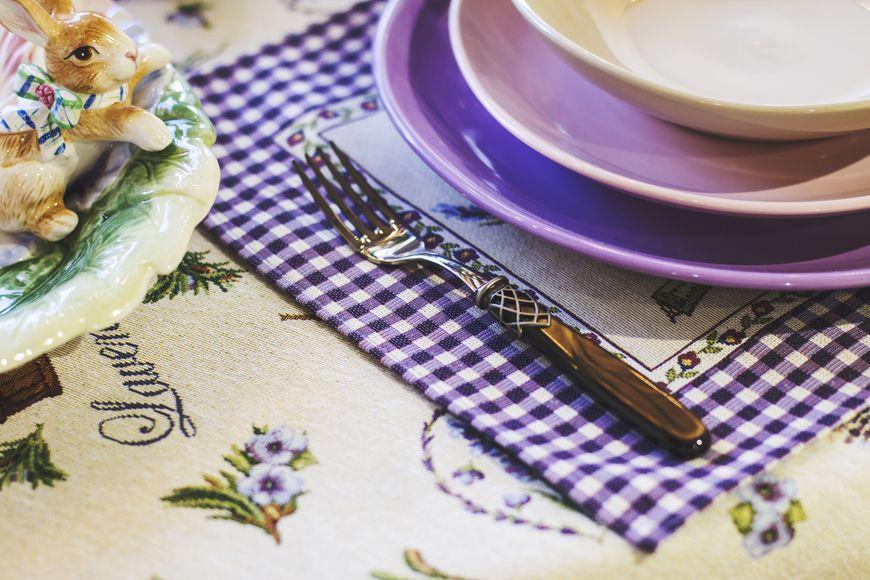 """Набор столовых приборов с сетчатым декором """"Франция""""  - фото"""