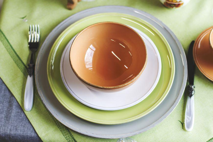 Тарелка зеленая обеденная Friso  - фото