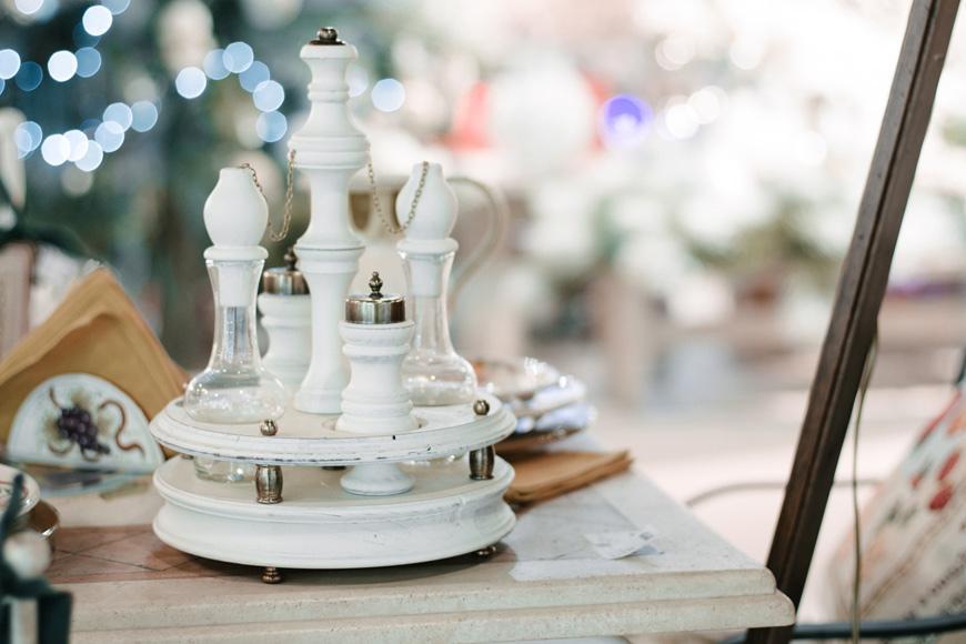 """Набор для специй и уксуса на деревянной подставке """"Прованс""""  - фото"""