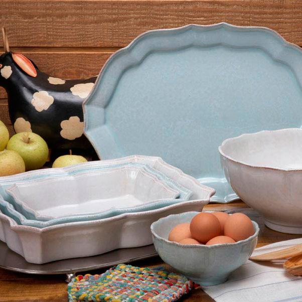 """""""Каменная"""" посуда белого цвета из Португалии Impressions  - фото"""