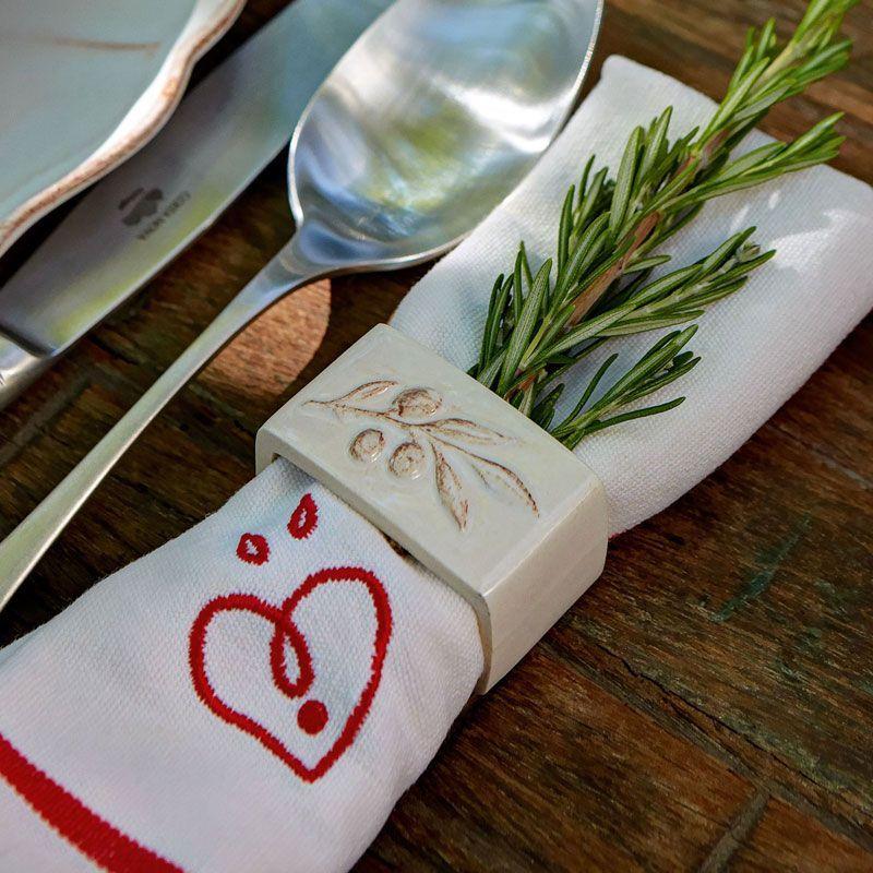 Держатель для столовой салфетки белый Alentejo  - фото