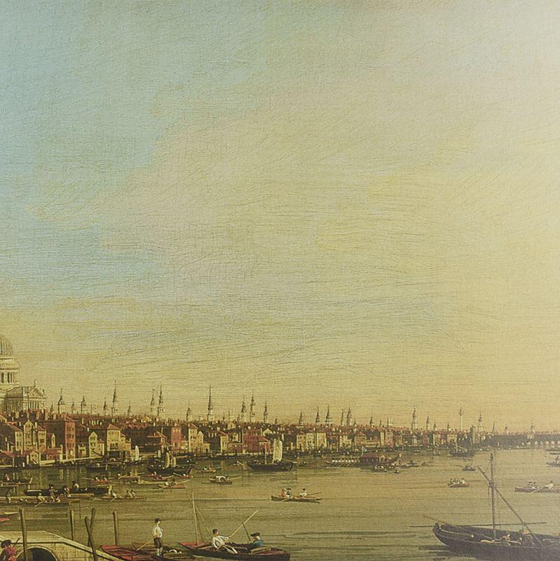 """Большая картина """"Вид на Темзу"""" Антонио Каналетто, репродукция  - фото"""