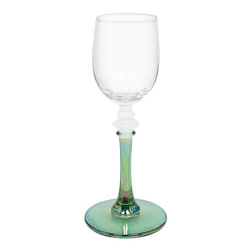 Набор из 6-ти бокалов для крепких напитков на разноцветных ножках  - фото