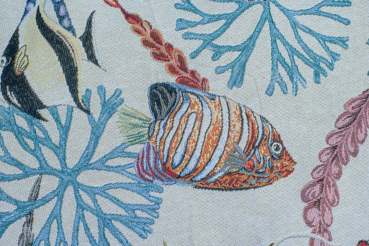 """Прямоугольная скатерть из гобелена с изображением подводного мира """"Морская фантазия""""  - фото"""