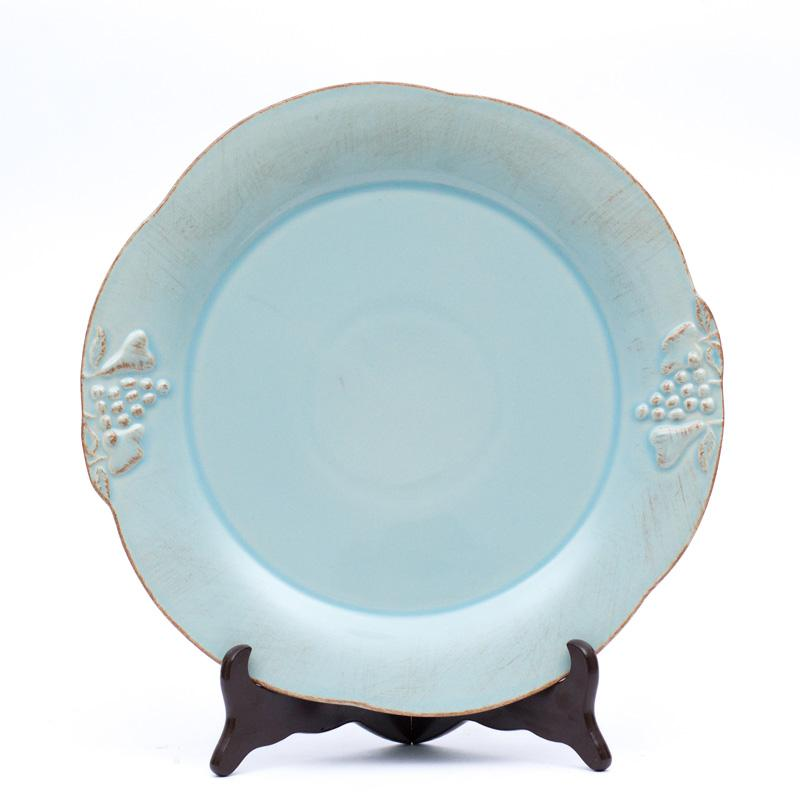 Тарелка подставная бирюзовая Mediterranea  - фото