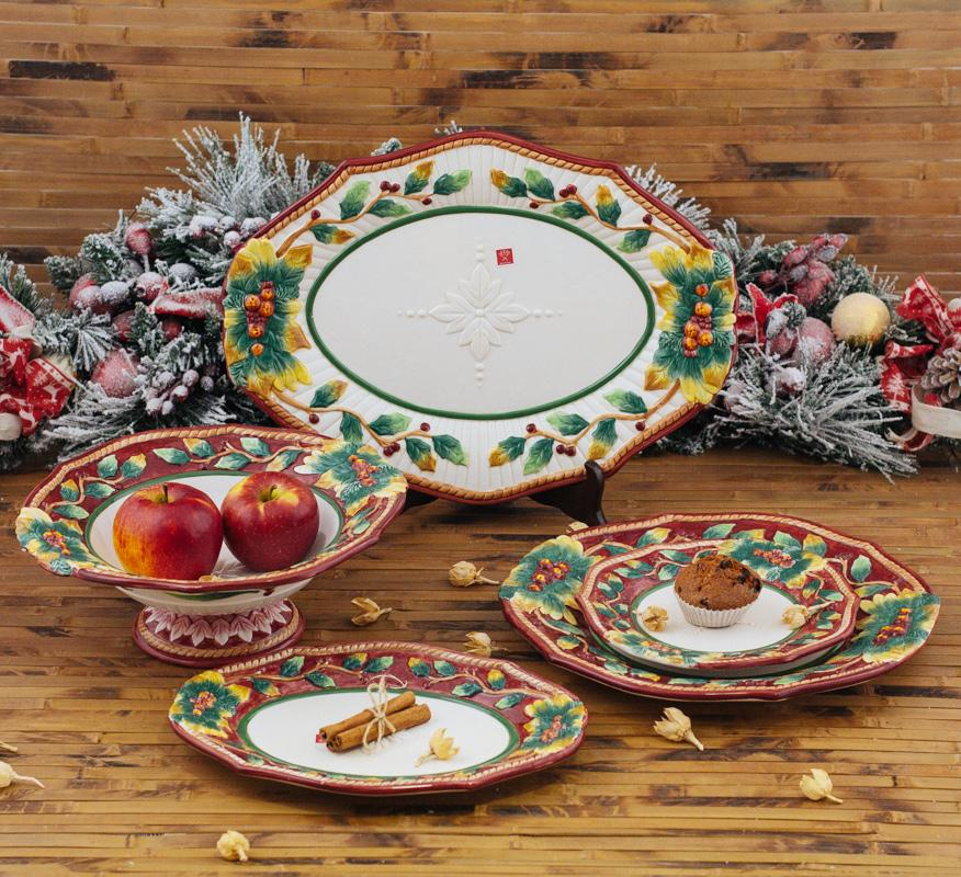 """Большое блюдо """"Новогодний рождественник""""  - фото"""
