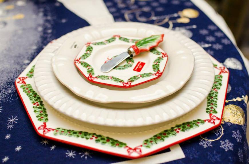 Блюдо новогоднее Праздничная гирлянда  - фото