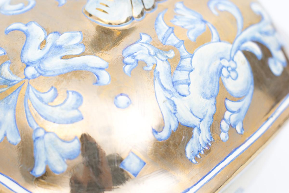 Керамическая супница на блюде из эксклюзивной коллекции Oro Antico  - фото