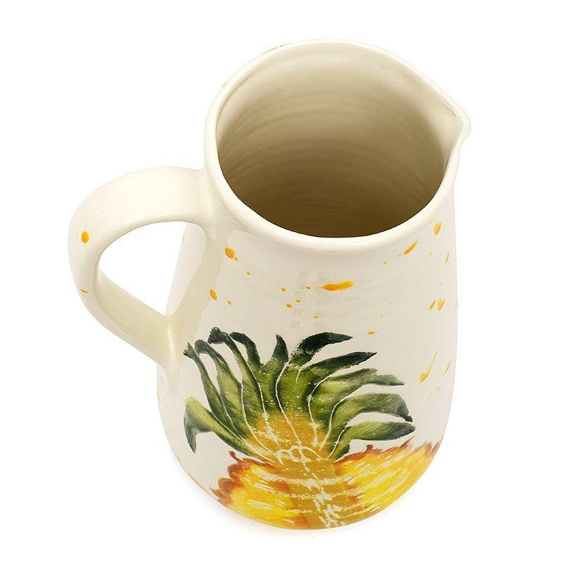 """Высокий кувшин с рисунком ананаса """"Фруктовый коктейль""""  - фото"""