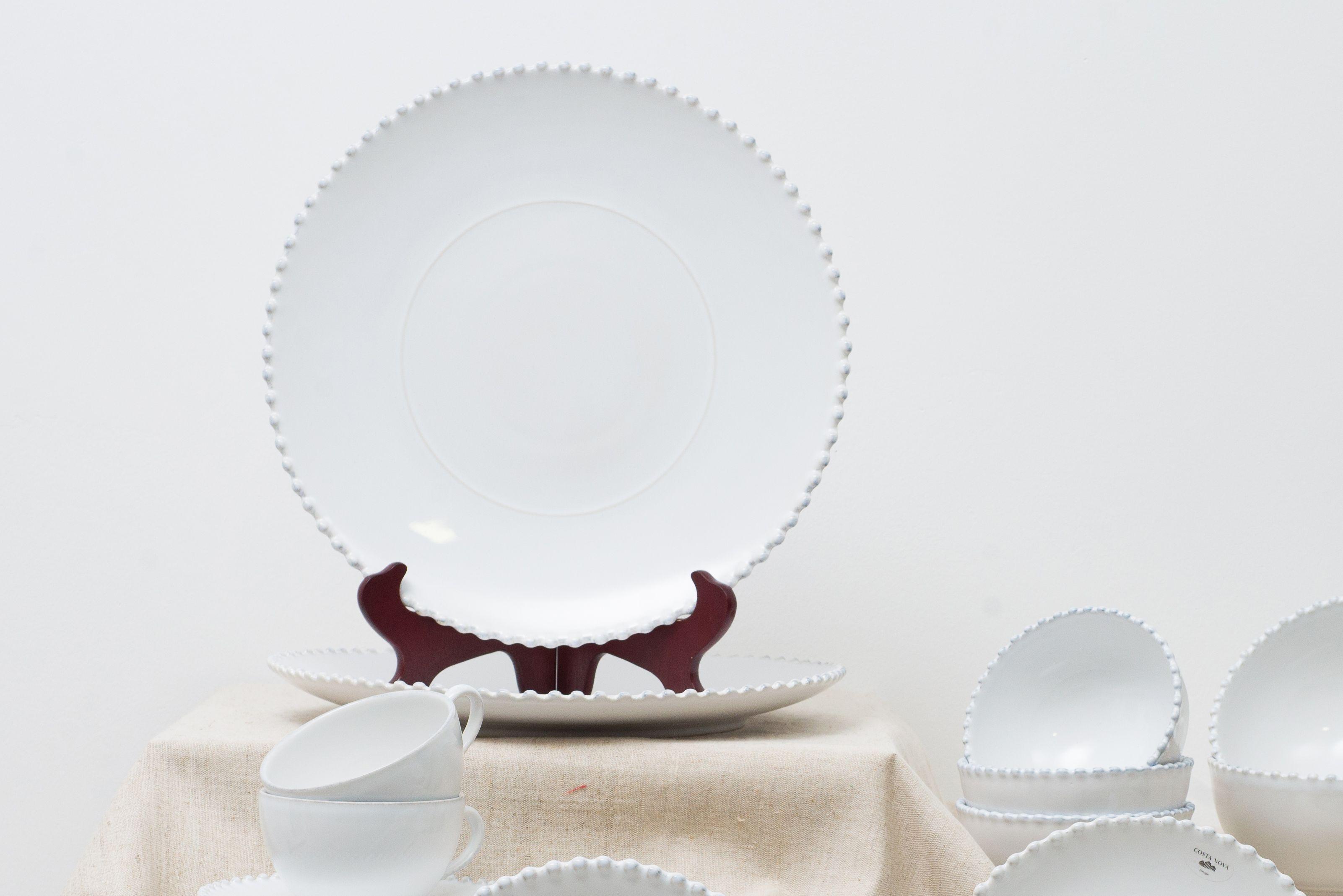 Блюдо для нарезки белое Pearl  - фото