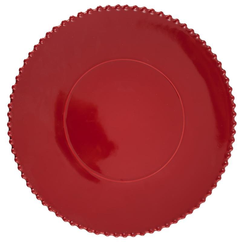 Тортовница на ножке красная Pearl  - фото