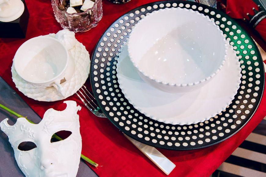 Ярко-белая чашка с блюдцем Trame in bianco  - фото
