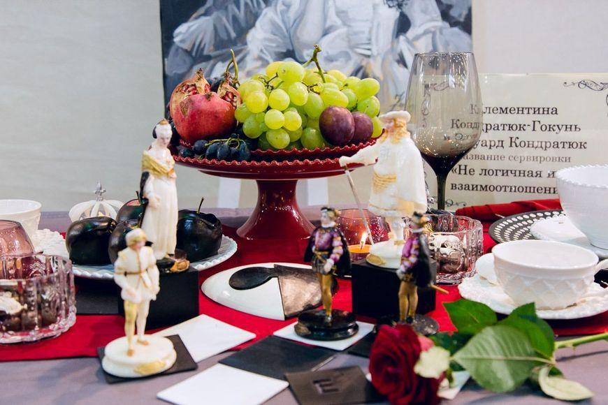 Тарелка красная Pearl  - фото