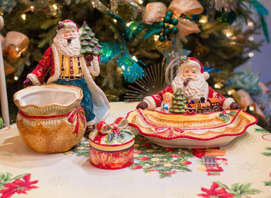 """Итальянская новогодняя посуда """"Мешок с подарками""""  - фото"""