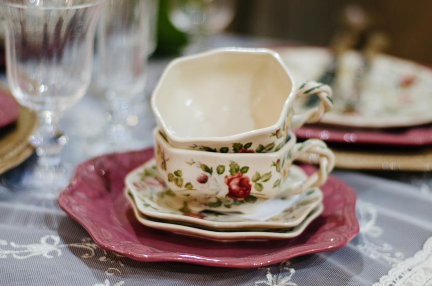 Чашка с блюдцем в стиле Прованс  - фото