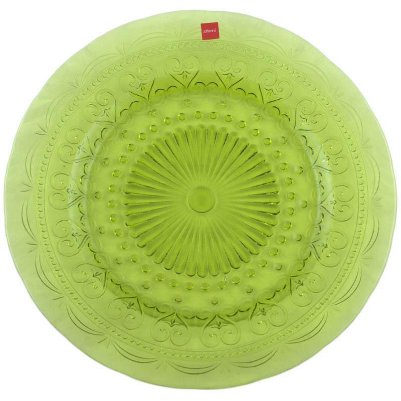Тарелка подставная зеленая  - фото