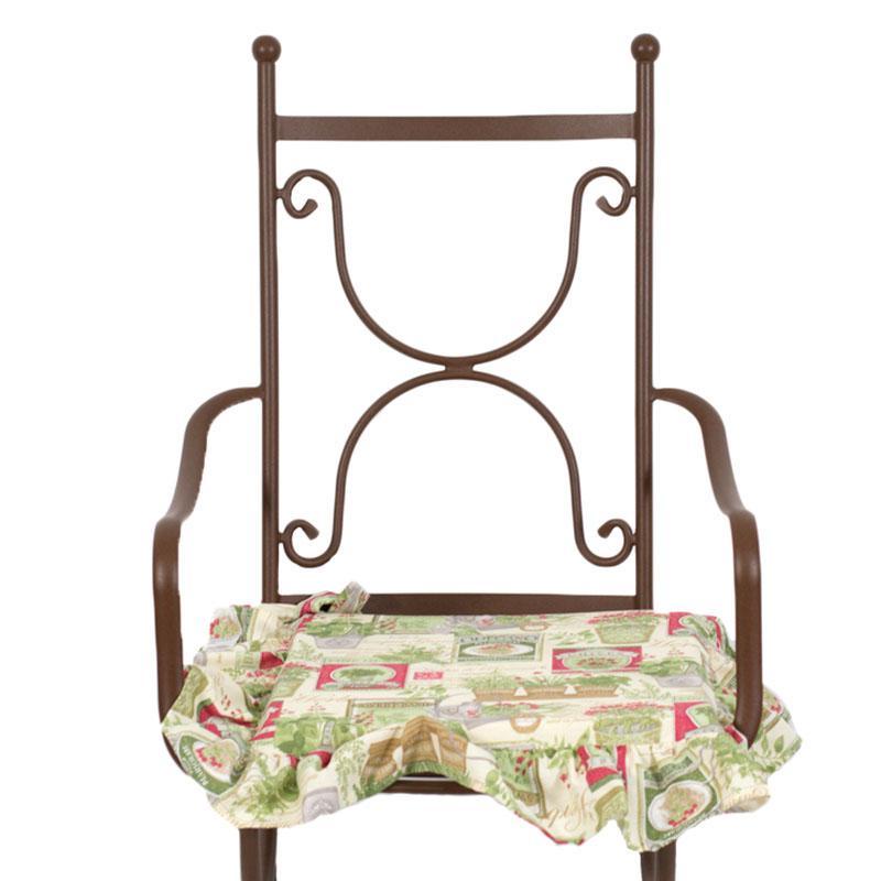"""Гобеленовая подушка для стула """"Букет гарни""""  - фото"""