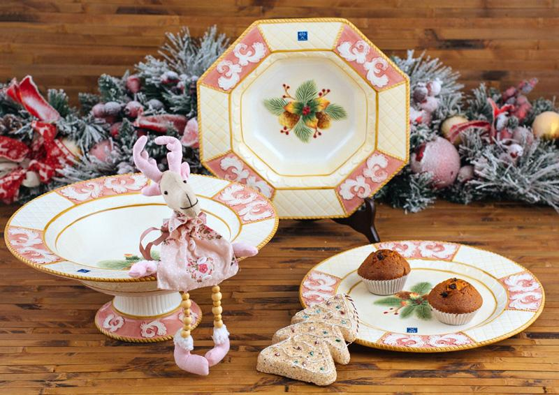 "Праздничная посуда ""Розовая фантазия""  - фото"