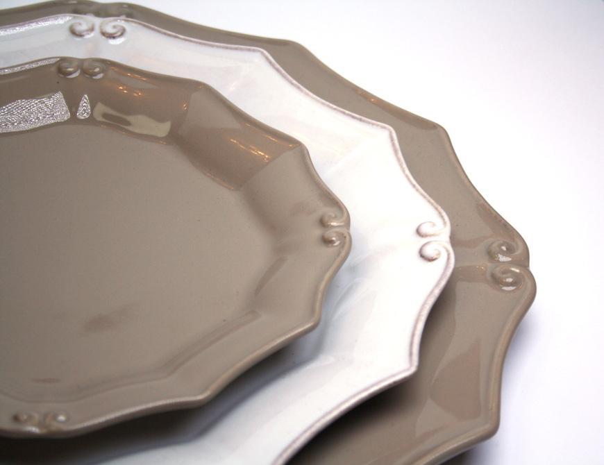 Набор салатных тарелок из керамики шоколадного оттенка Barroco, 6 шт.  - фото