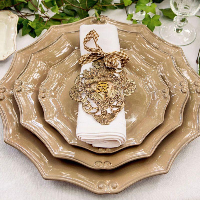 Тарелка для салата с завитками в стиле барокко Barroco  - фото