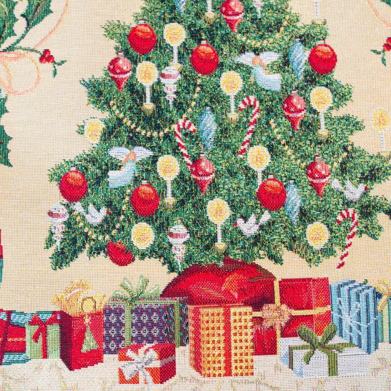 """Нарядный раннер из коллекции новогоднего гобелена с люрексом """"Серпантин""""  - фото"""