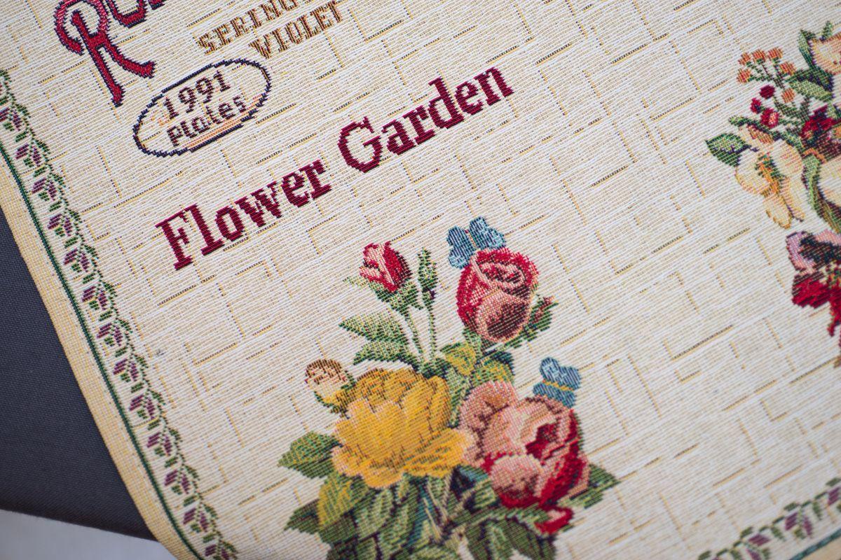 """Гобеленовый раннер с цветочным рисунком """"Ботанический сад""""  - фото"""