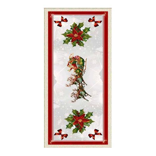 """Праздничный раннер из гобелена с новогодним рисунком """"Подарки""""  - фото"""