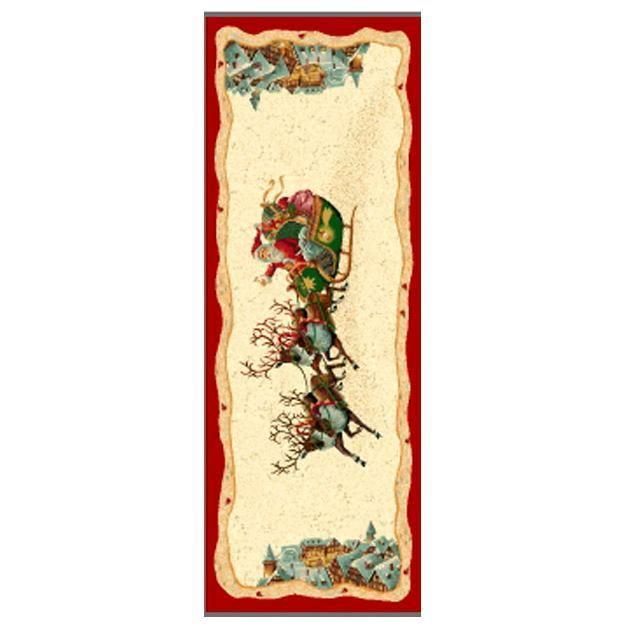 """Гобеленовый раннер со светлым фоном """"Рождественские олени""""  - фото"""