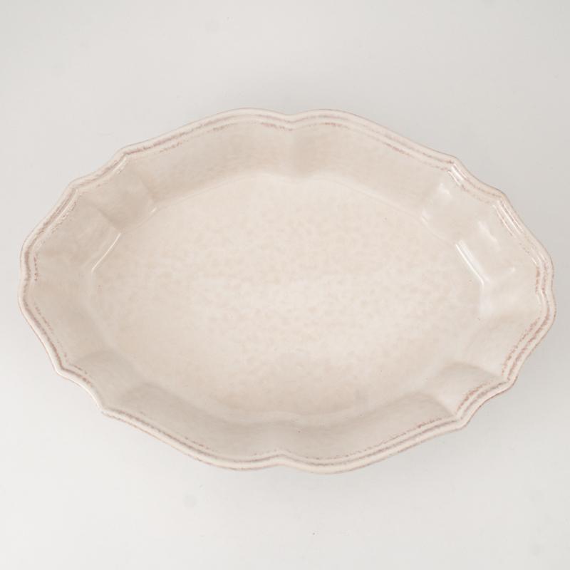 Блюдо для запекания в духовке белого цвета Impressions  - фото
