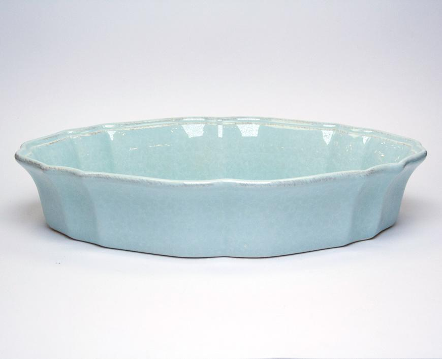 Блюдо для запекания в духовке голубое Impressions  - фото